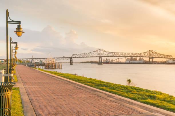 Baton Rouge, Louisiana Riverfront stock photo