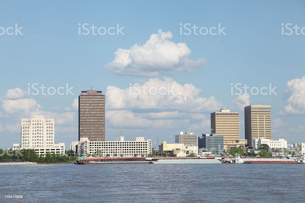 Baton Rouge on the Mississippi River stock photo