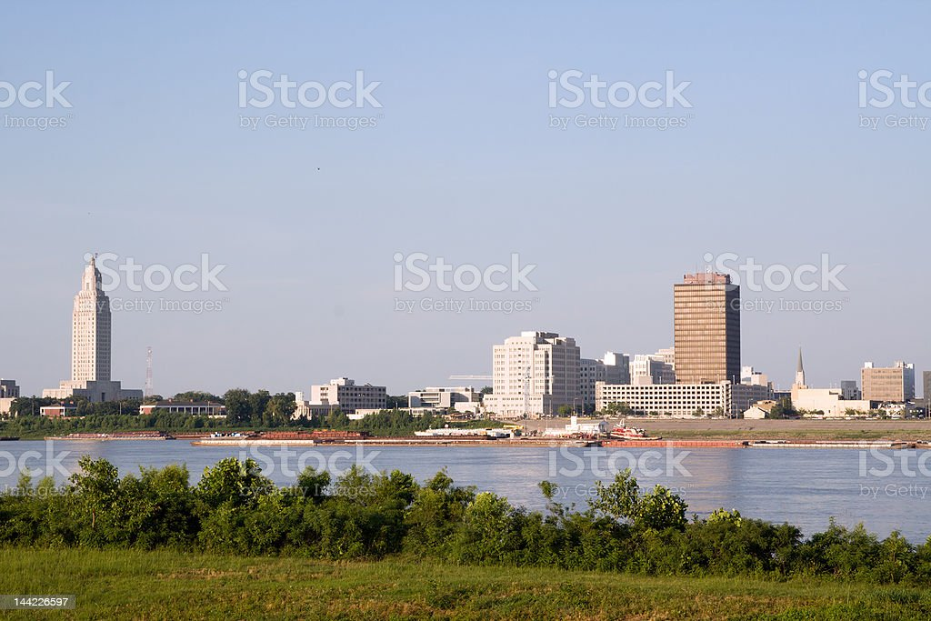 Baton Rouge Skyline stock photo