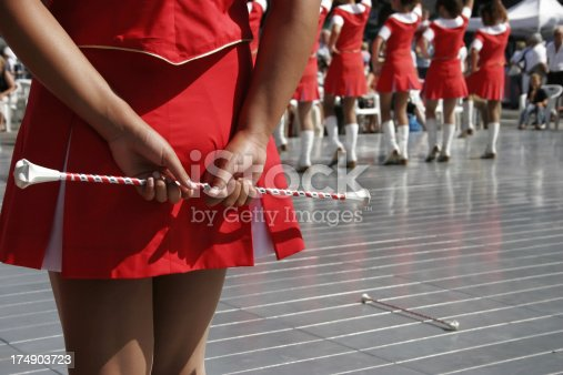 girls of a marching band.