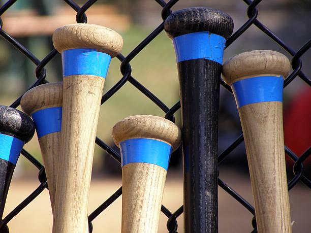 bats - baseball bat stock photos and pictures