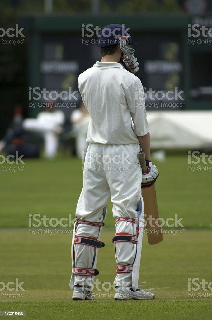 Batsman ready to play cricket royalty-free stock photo