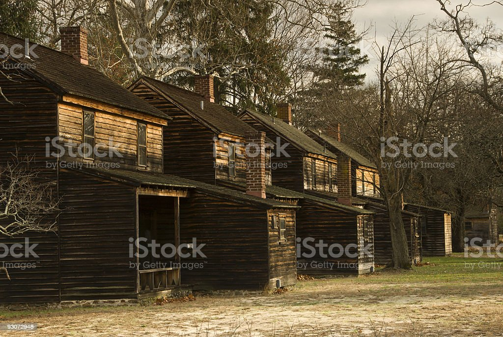 Batsto Village Houses at Dawn royalty-free stock photo