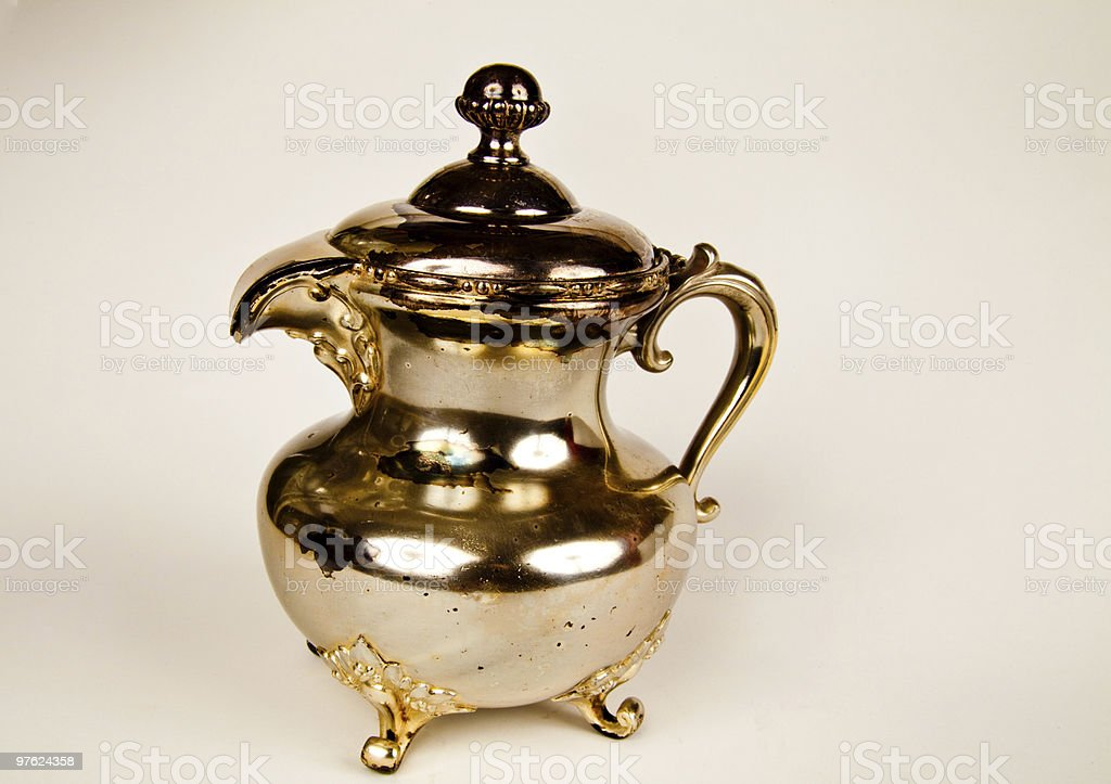 Battered Antique Creamer royalty-free stock photo