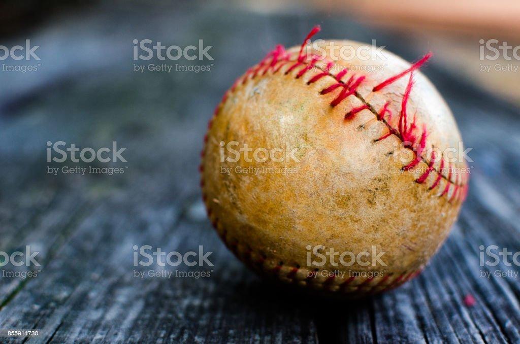 Battered Baseball 2 stock photo