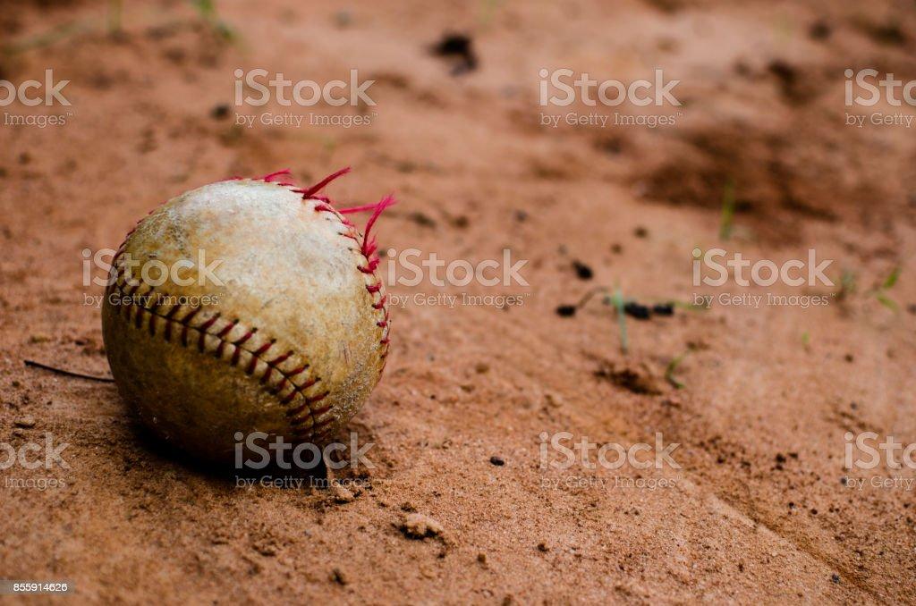Battered Baseball stock photo