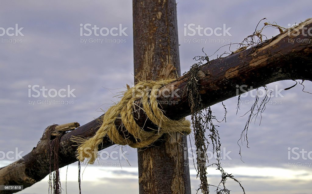 Battered Cross royalty free stockfoto