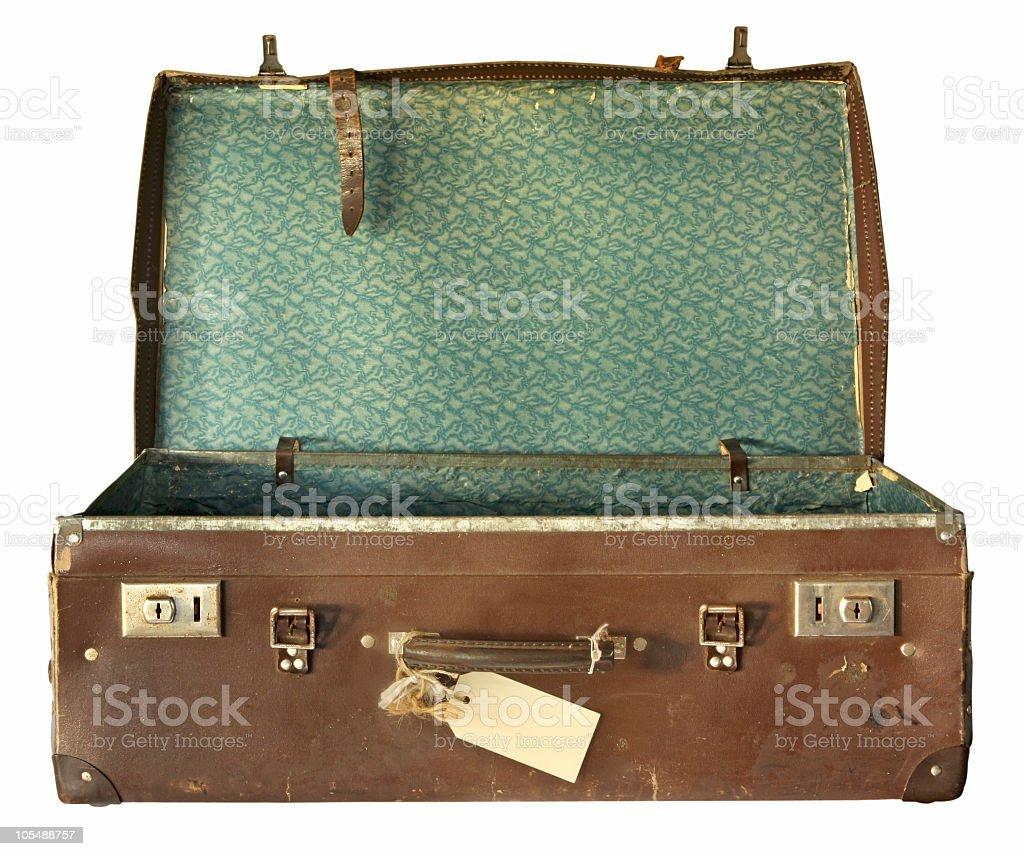 Vintage mala, aberto - foto de acervo