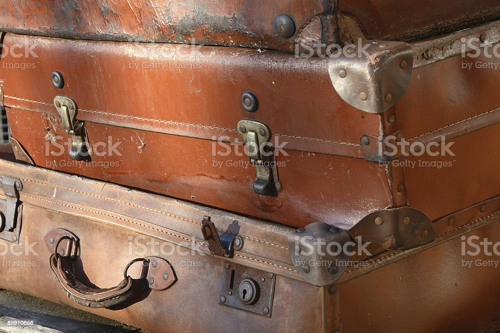 Battered Suitcases royalty-free stock photo