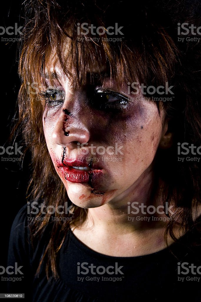 Battered Woman royalty-free stock photo