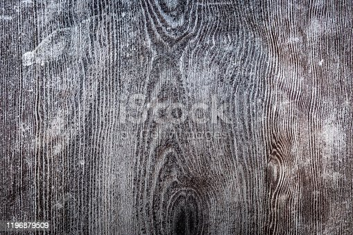 Rustic grey wood background. grunge background. battered wood dark gray