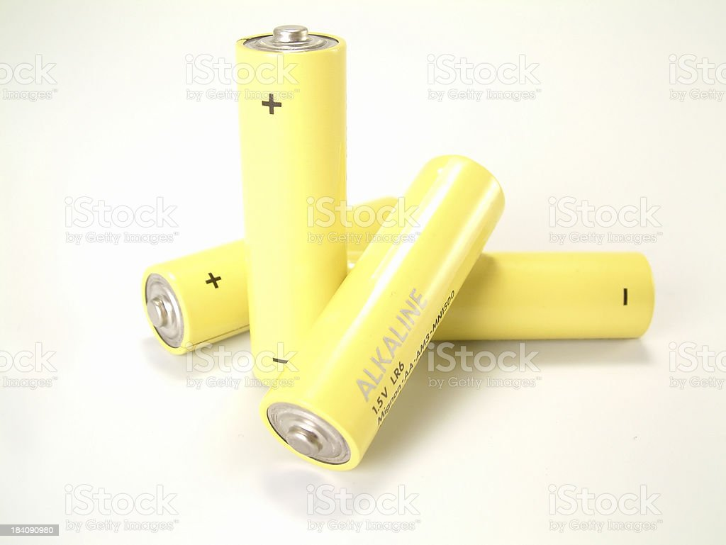 Batteries, AA 2 royalty-free stock photo