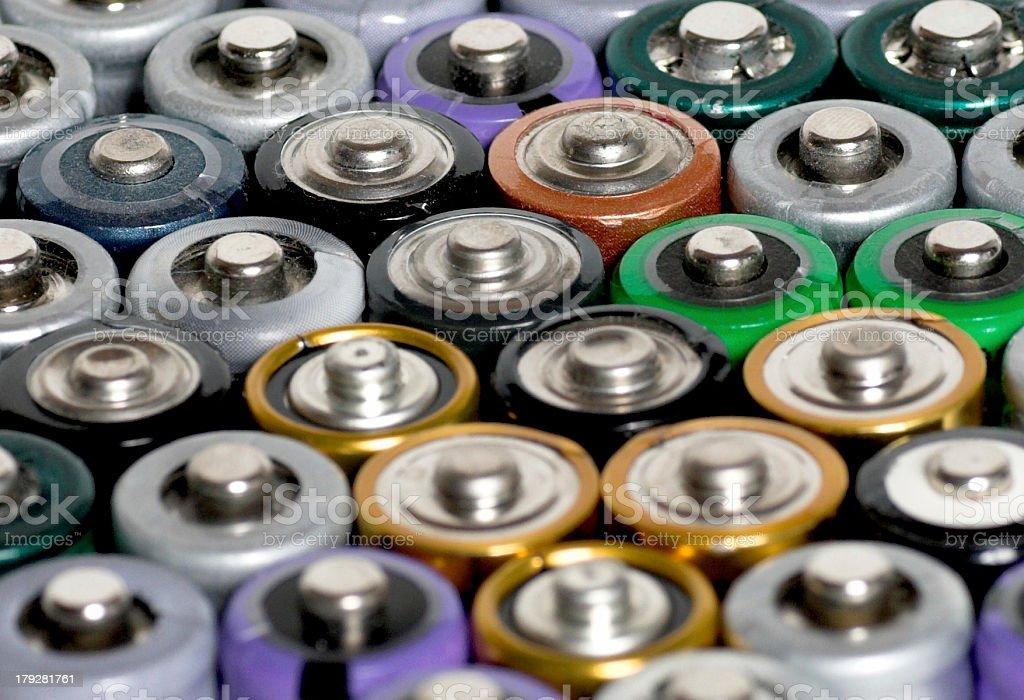 batteries AA Mignon stock photo