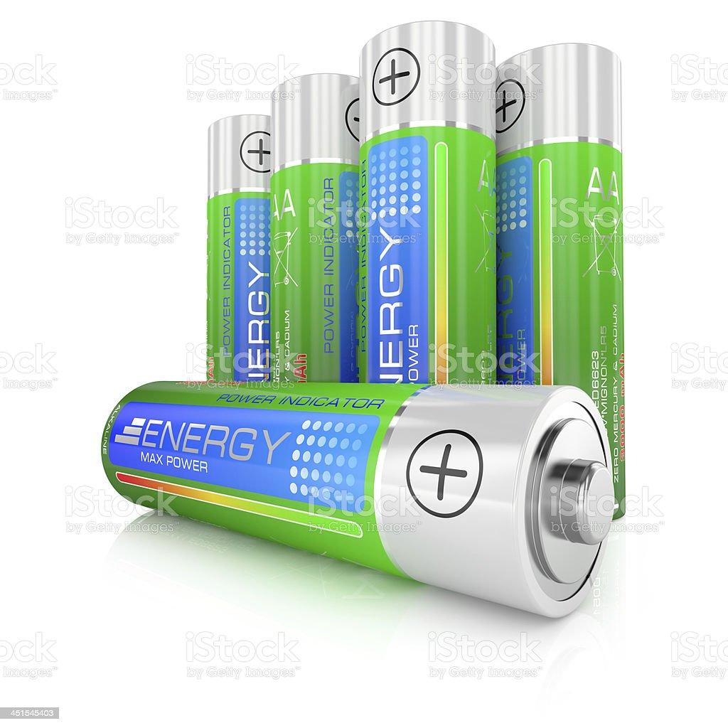 Batteries class AA stock photo