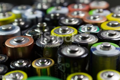 istock Batteries of different types and colors 513125352