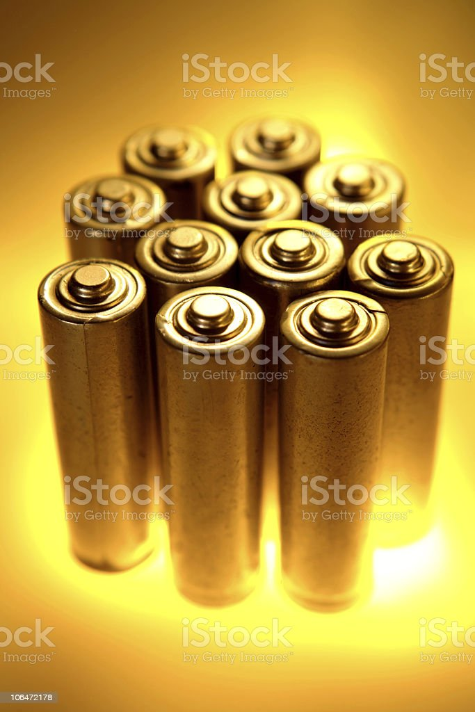 Batteries royalty-free stock photo