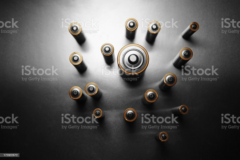 batteries series royalty-free stock photo