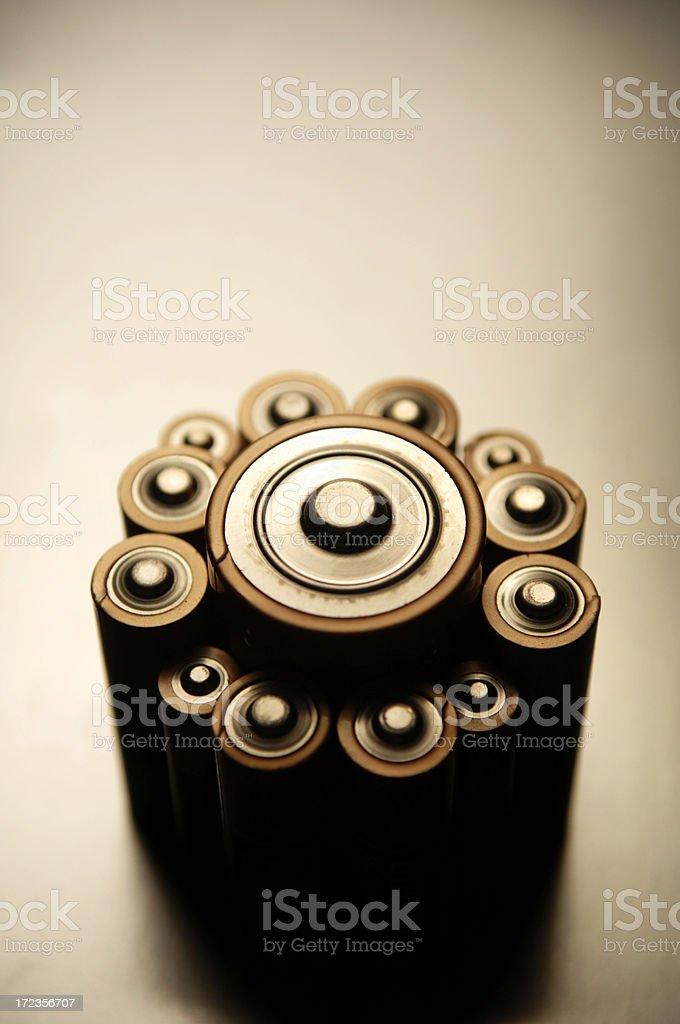 La serie baterías foto de stock libre de derechos