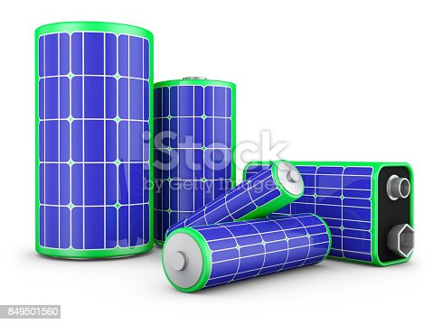 istock batteries with solar panels 849501560