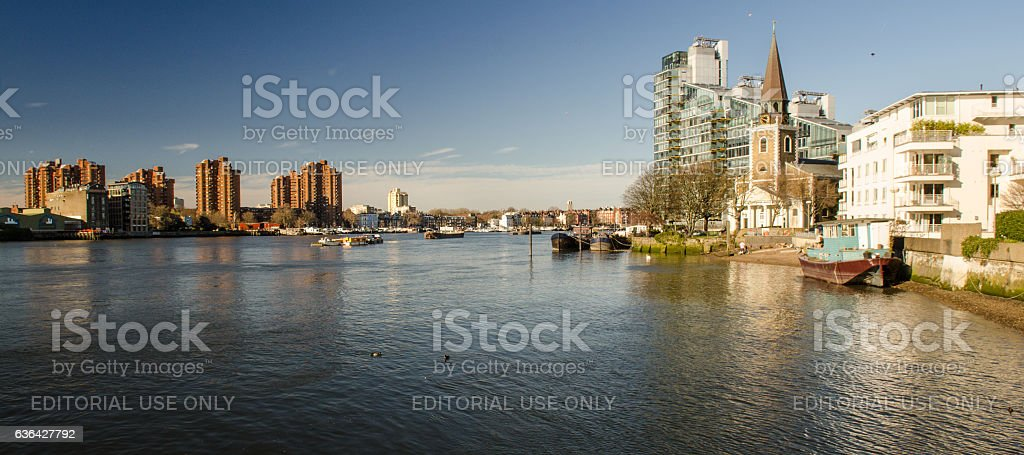 Battersea and Chelsea Riversides stock photo