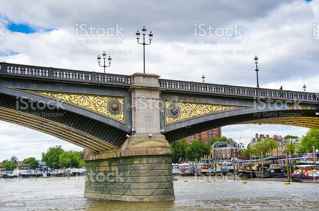 Battersea Bridge, London, United Kingdom stock photo