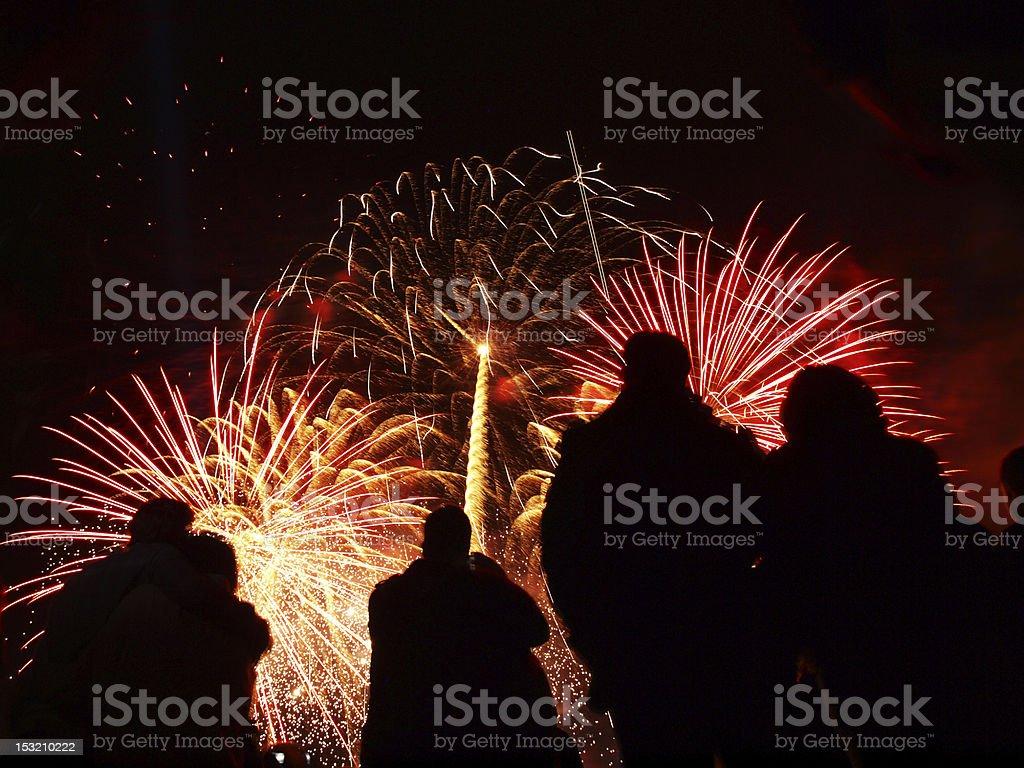 battersea fireworks 2010 royalty-free stock photo