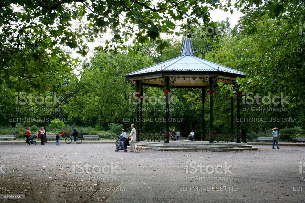 Battersea Park stock photo