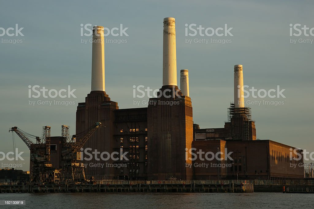 Battersea power plant royalty-free stock photo