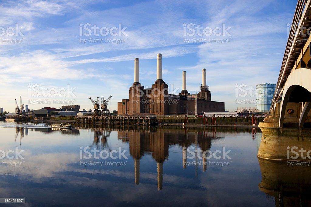 Battersea Power Station At Dawn royalty-free stock photo