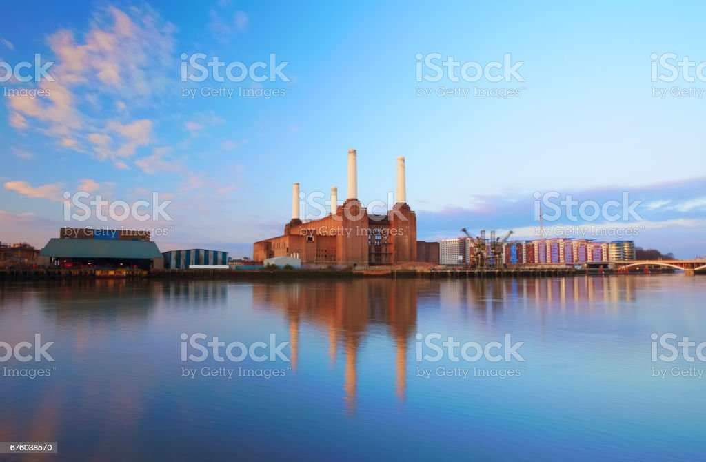 Battersea Power Station At Dawn stock photo