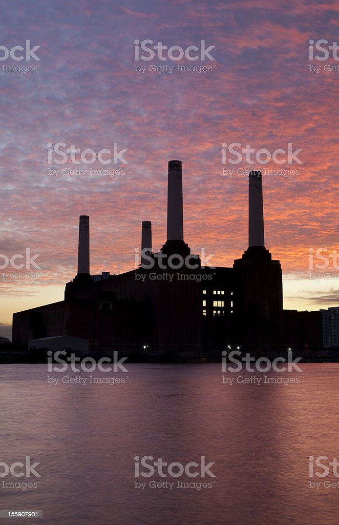 Battersea Power Station At Dusk stock photo