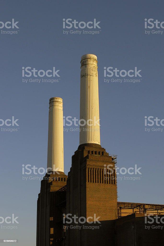 Battersea Power Station Chimneys stock photo
