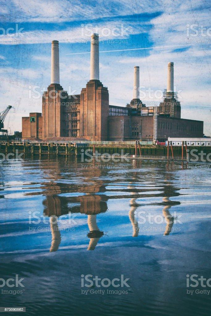 Battersea Power Station, London Landmark stock photo
