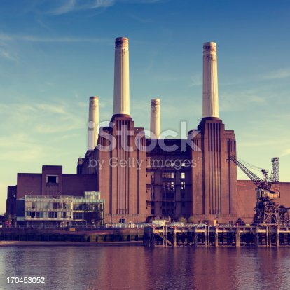 View of the Battersea Power Station in London.