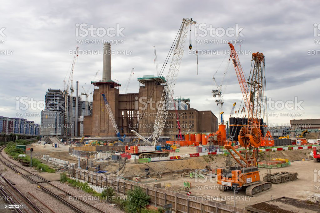 Battersea power station redevelopment stock photo