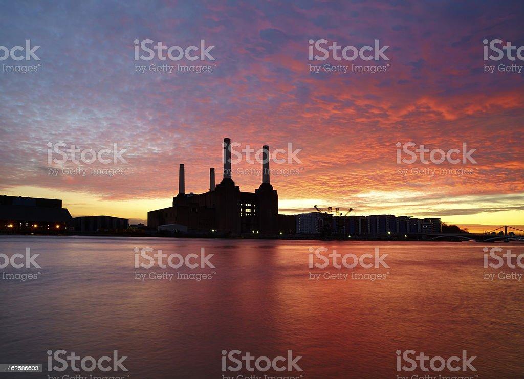 Battersea Power Station Sunset stock photo