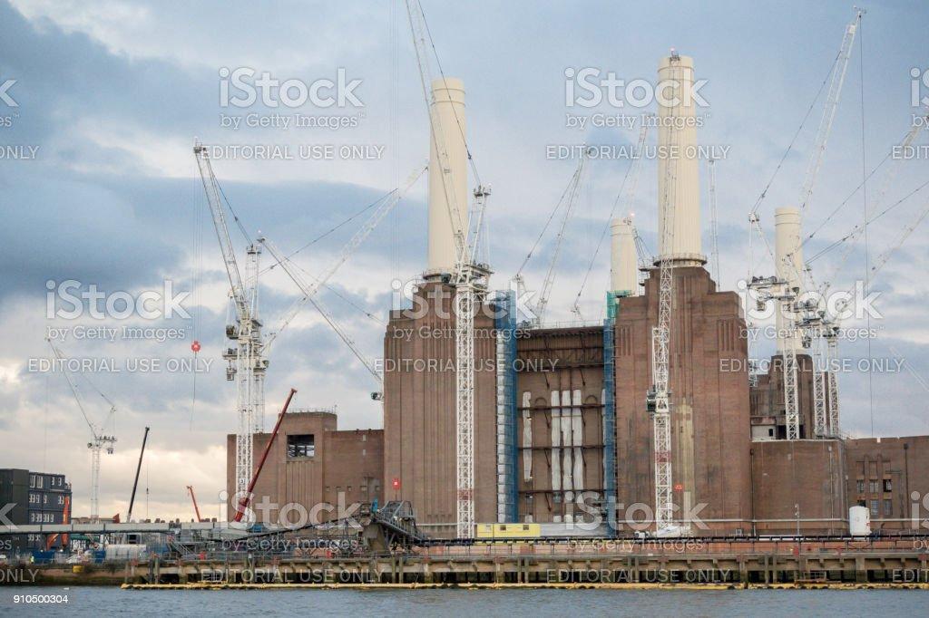 Battersea Power Station undergoing renovation stock photo