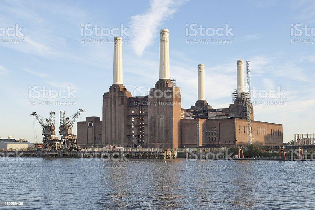 Battersea Powerstation in London stock photo