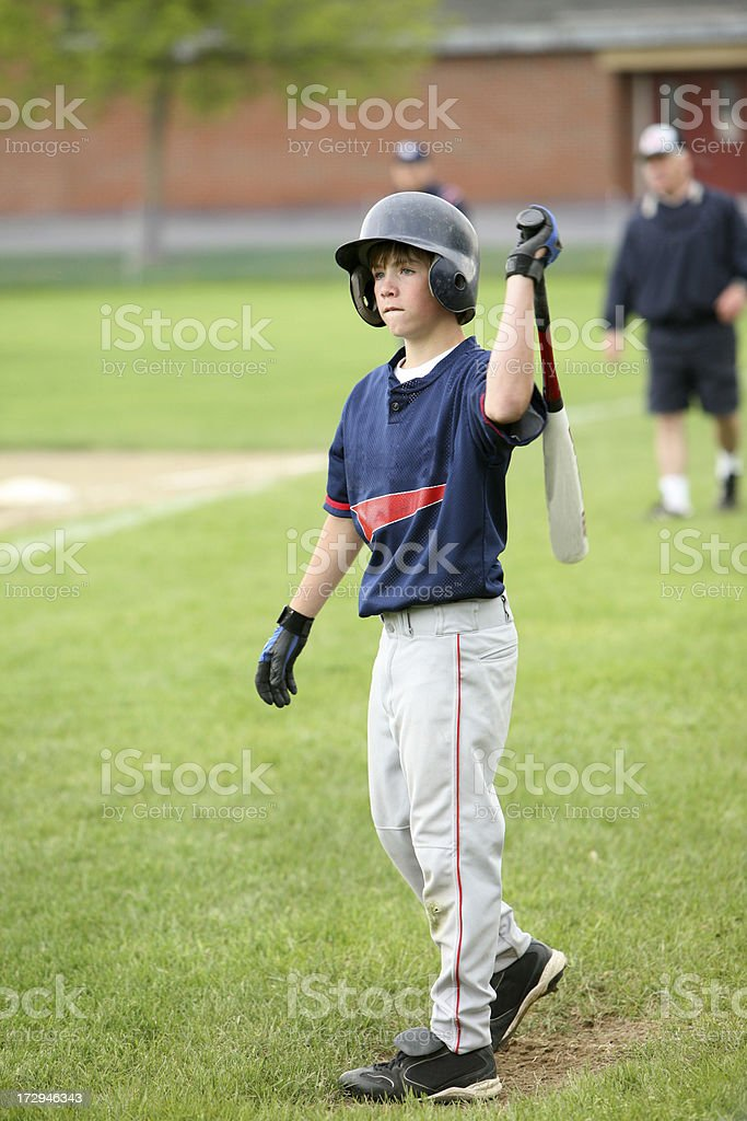 Batter-up royalty-free stock photo