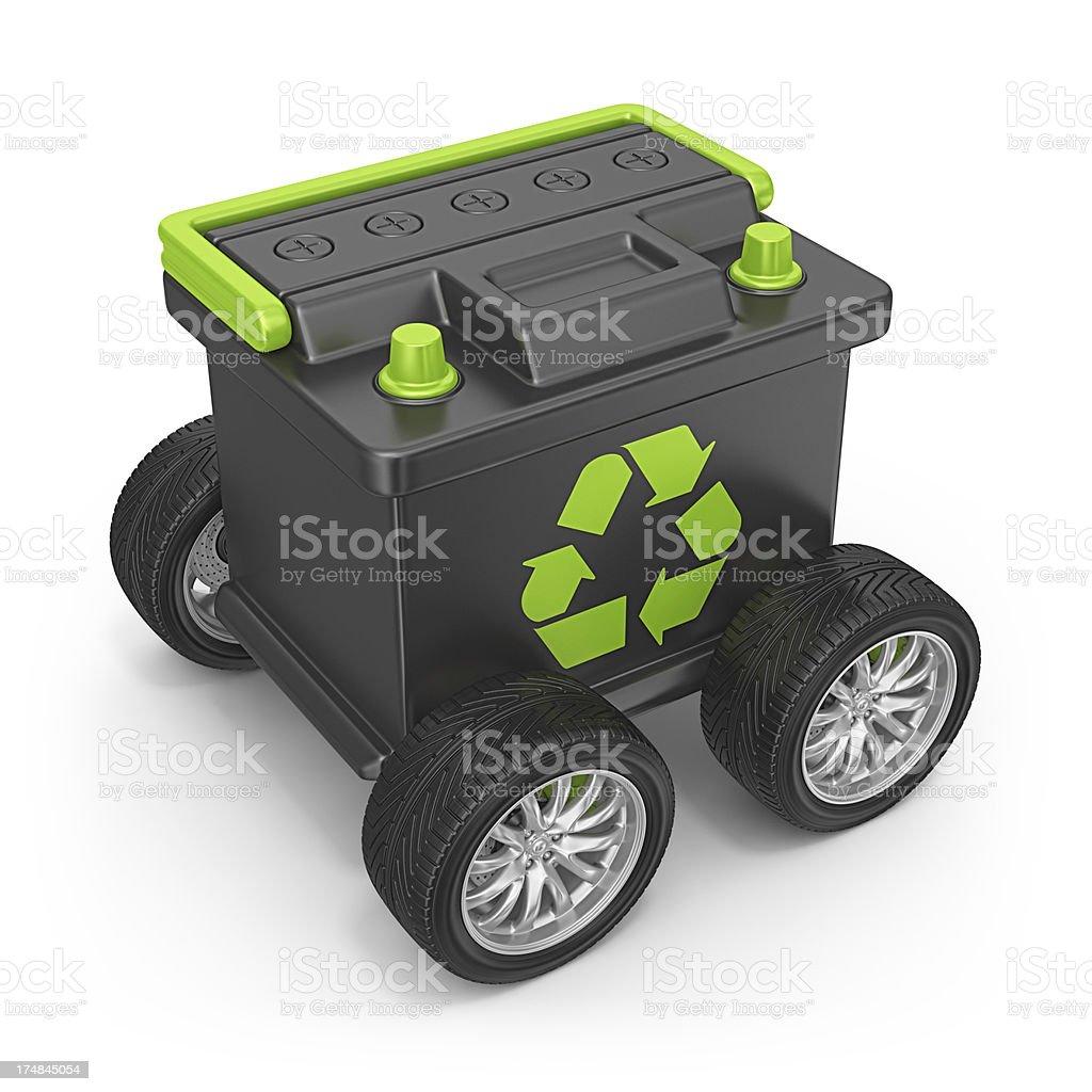 battery car royalty-free stock photo
