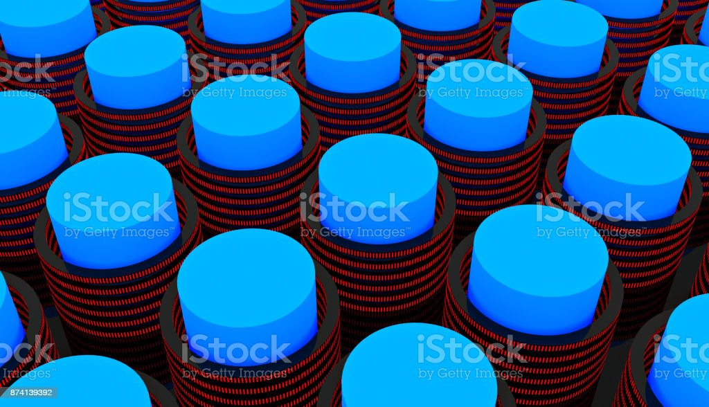 Battery cells power supply stock photo