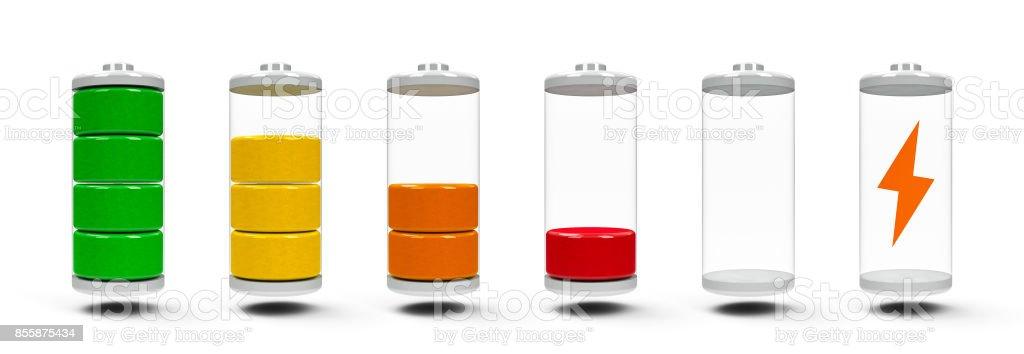 バッテリ充電インジケータ ストックフォト