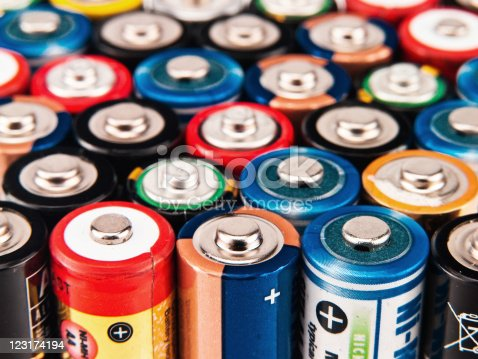 istock Battery colorful background 123174194