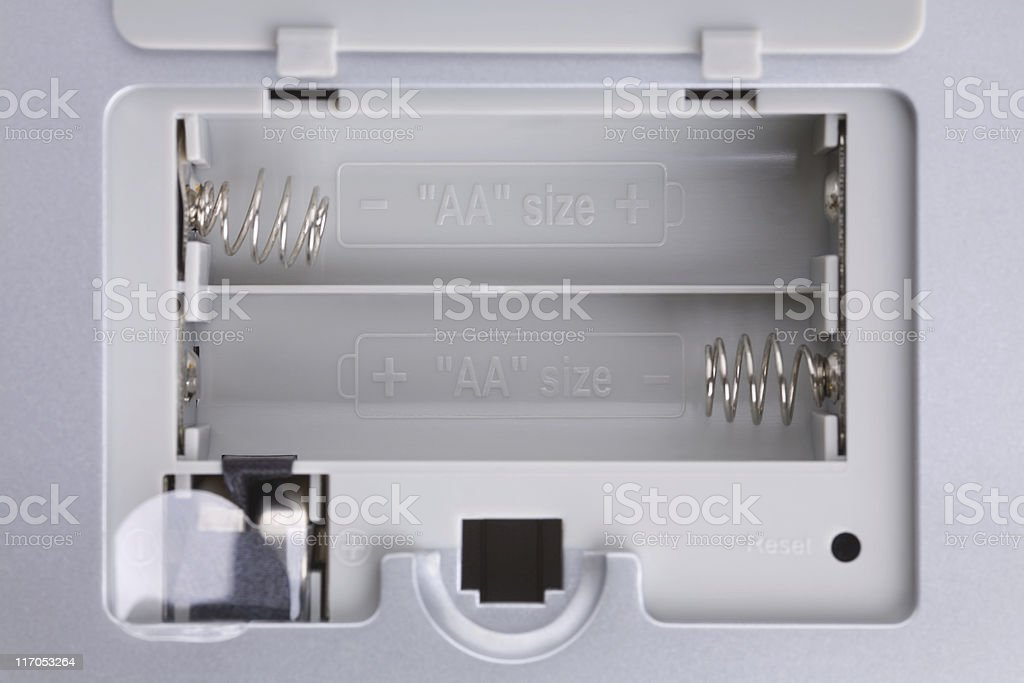 battery container stock photo