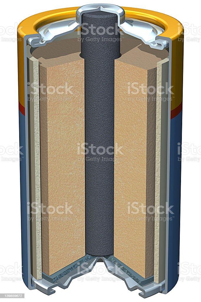 Battery Cutaway royalty-free stock photo