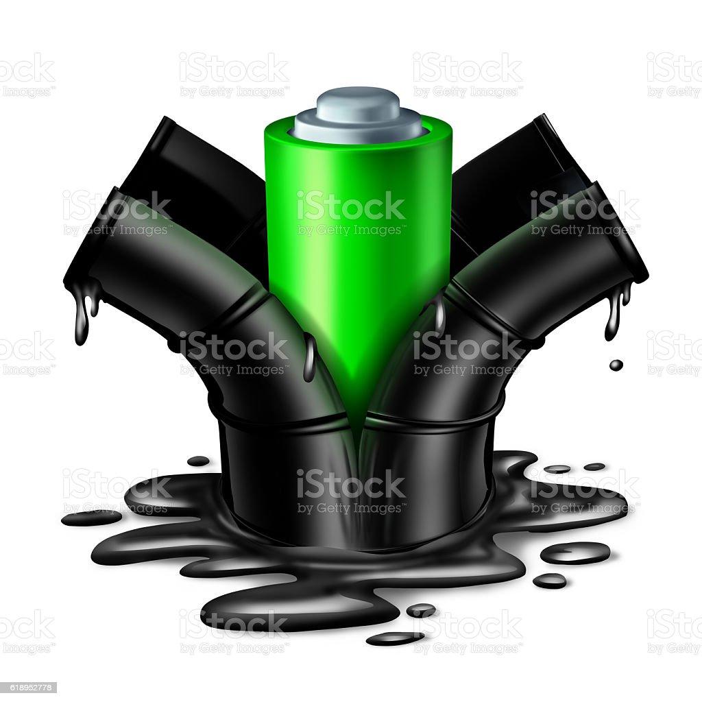 Battery Energy Concept stock photo