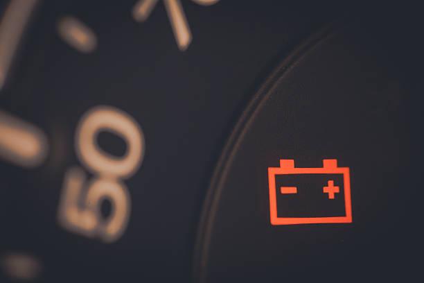 Battery icon detail stock photo