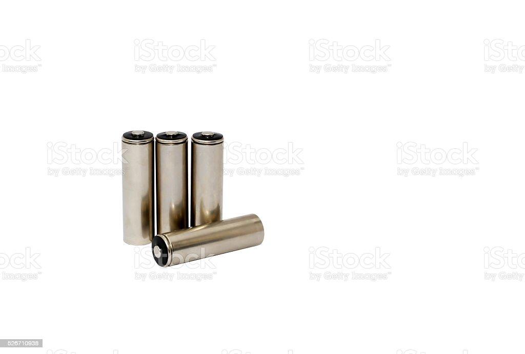 Battery isolated background stock photo