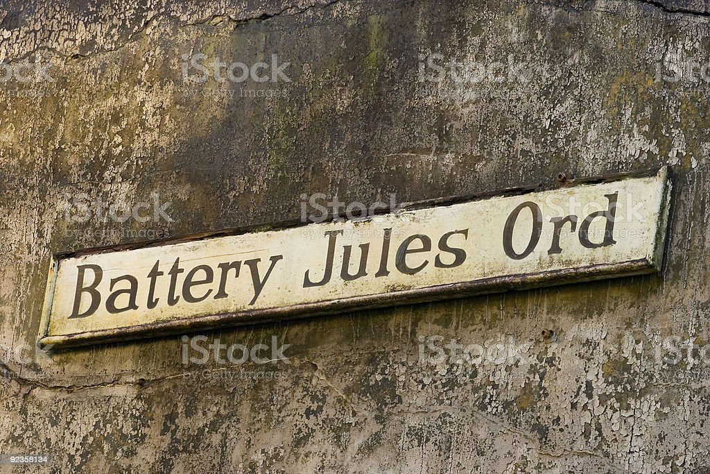 Battery Jules Ord, Fort Columbia stock photo