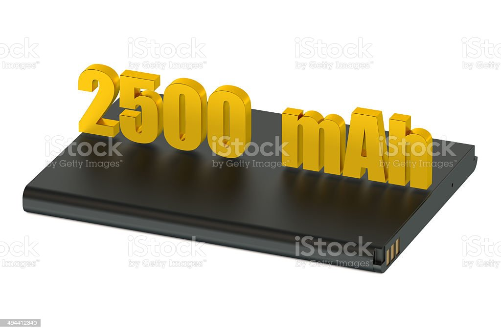 Battery lithium-ion for smatphone and tablet 2500 mAh stock photo